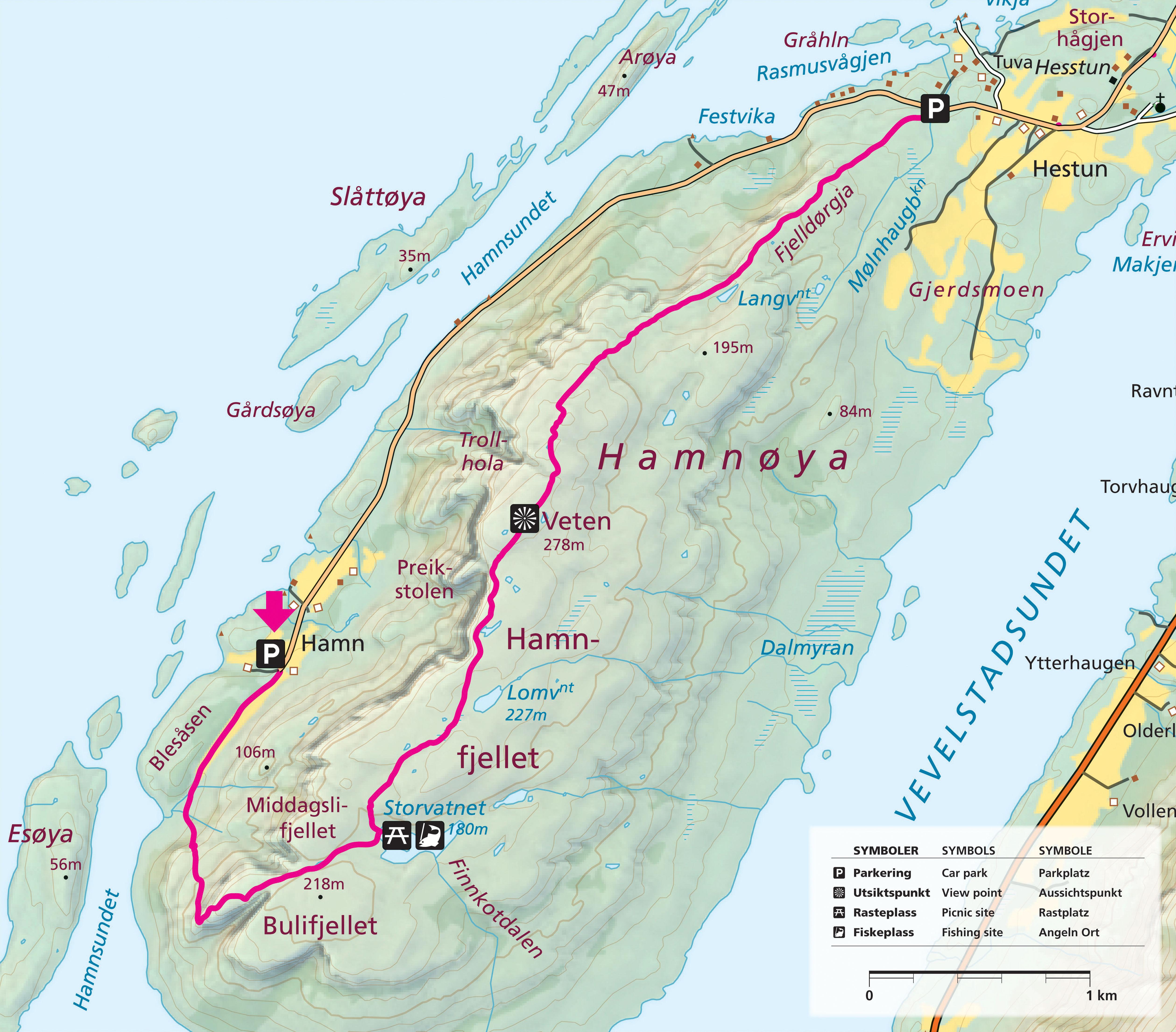 Hamnoya Map